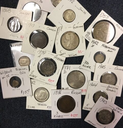 Coins In This Huge Lot Up To $150. Amazing ESTATE Deal Rare Date Foreign /& U.S