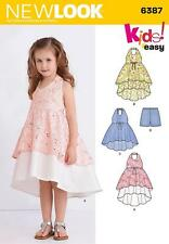 NEW LOOK SEWING PATTERN Child's Dress, Tunic & Shorts SIZE 3 - 8  6387