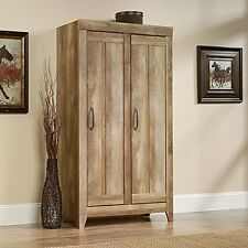 Item 1 Sauder Adept Storage Wide Cabinet 418141 Craftsman Oak New