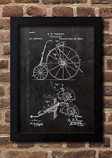 Velocipede 1880 G.W. Pressey patente tipo a4 Fine Art-Print galería calidad a4. 01