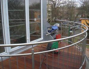 Edelstahl Gelander Rund Terasse Balkon Bogen Angebot Berlin Handlauf