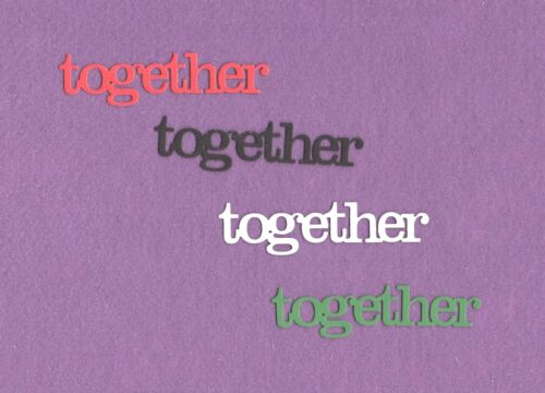 TOGETHER family die cuts scrapbook cards
