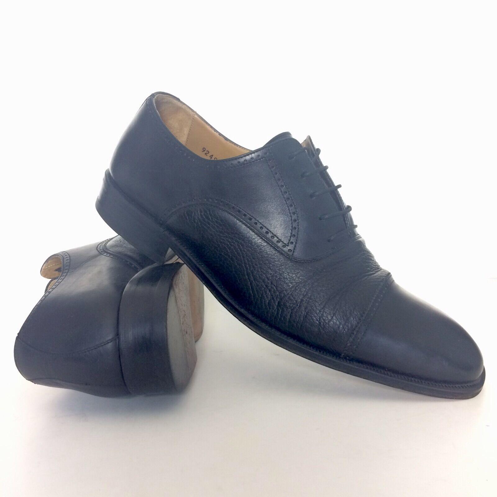 risposta prima volta Magnanni Magnanni Magnanni Uomo nero Leather Cap Toe scarpe Dimensione 11.5 Lace Up Oxfords EUR 45.5  consegna lampo