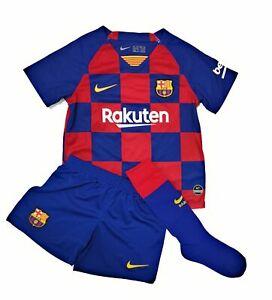 Nike Kinder Jungen Mädchen Trikotset Fußballset Sportset FC Barcelona 96-104 cm