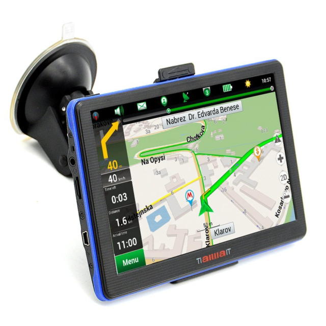 Portable Car GPS Navigation System Units 7-Inch Capacitive 8GB Windows CE, Y417