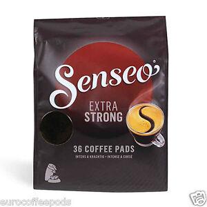 Senseo Douwe Egberts, Extra Strong / Extra Dark Roast Coffee, 10 x 36 = 360 Pads