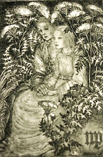 Sulamith Wulfing 1940 MOTHER and CHILD in the GARDEN - VOW Art Card Print Matted