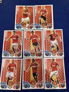 Topps Match Attax 2010/11 Manchester Utd Card Bundle X8 Scholes, Giggs Etc