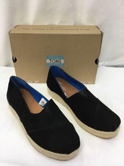 46a072a93cb Toms Platform Alpargata Black Suede Size 11 for sale online