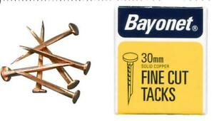 """1 1/4"""" (30 Mm) En Cuivre Coupe Fine Punaises, 40 G Pack-baïonnette 10246-afficher Le Titre D'origine Ventes Bon Marché"""