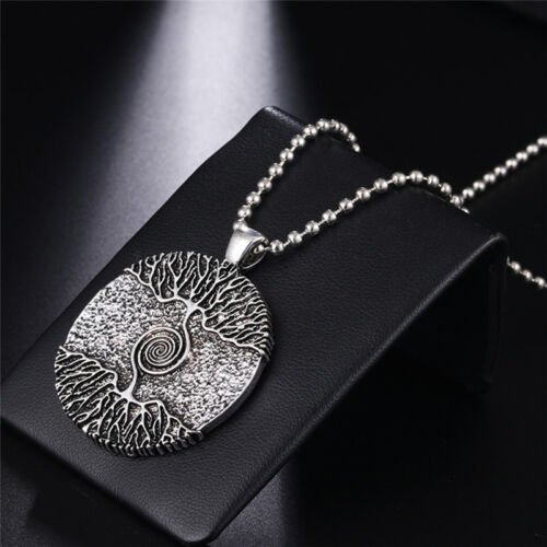 Silver Healing Tree of Life Necklace Pendant Amulet Talisman Nordic Tree 、NS