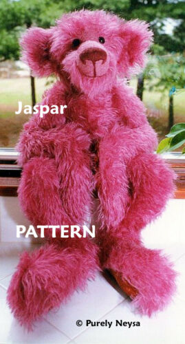 "Mohair  Plush /""Jaspar/""  a Teddy Bear PATTERN by Neysa A Phillippi Purely Neysa"