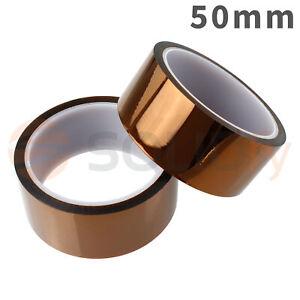 50mm-Polyimide-Tape-Hitzebestaendiges-Klebeband-Polyimid-Kapton-3D-Drucker-33m