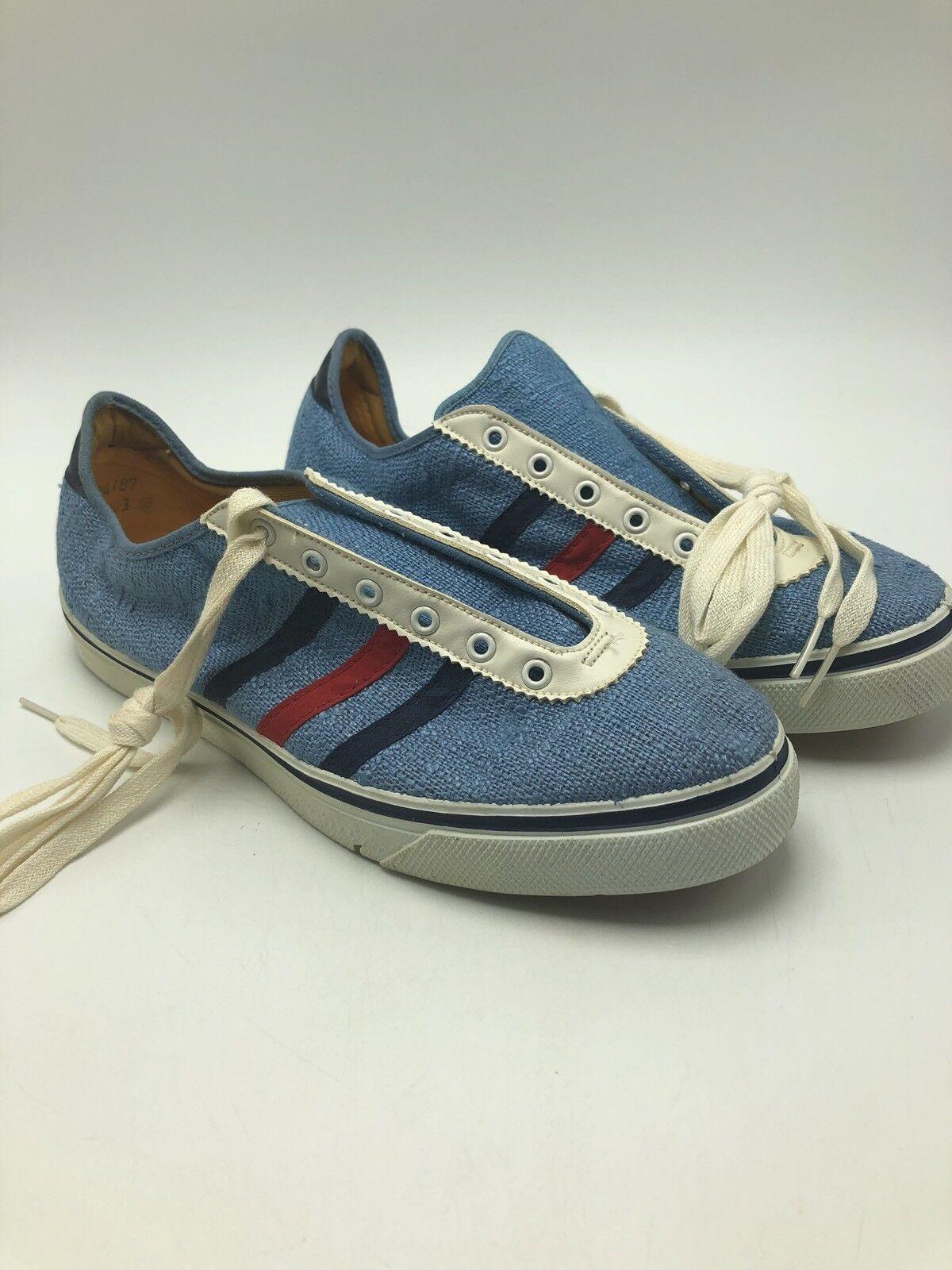Sun Damenschuhe 'n Surf Schuhes Vintage 1960s Blau ROT Stripes Damenschuhe Sun 7 Canvas Deck Tennis 639170