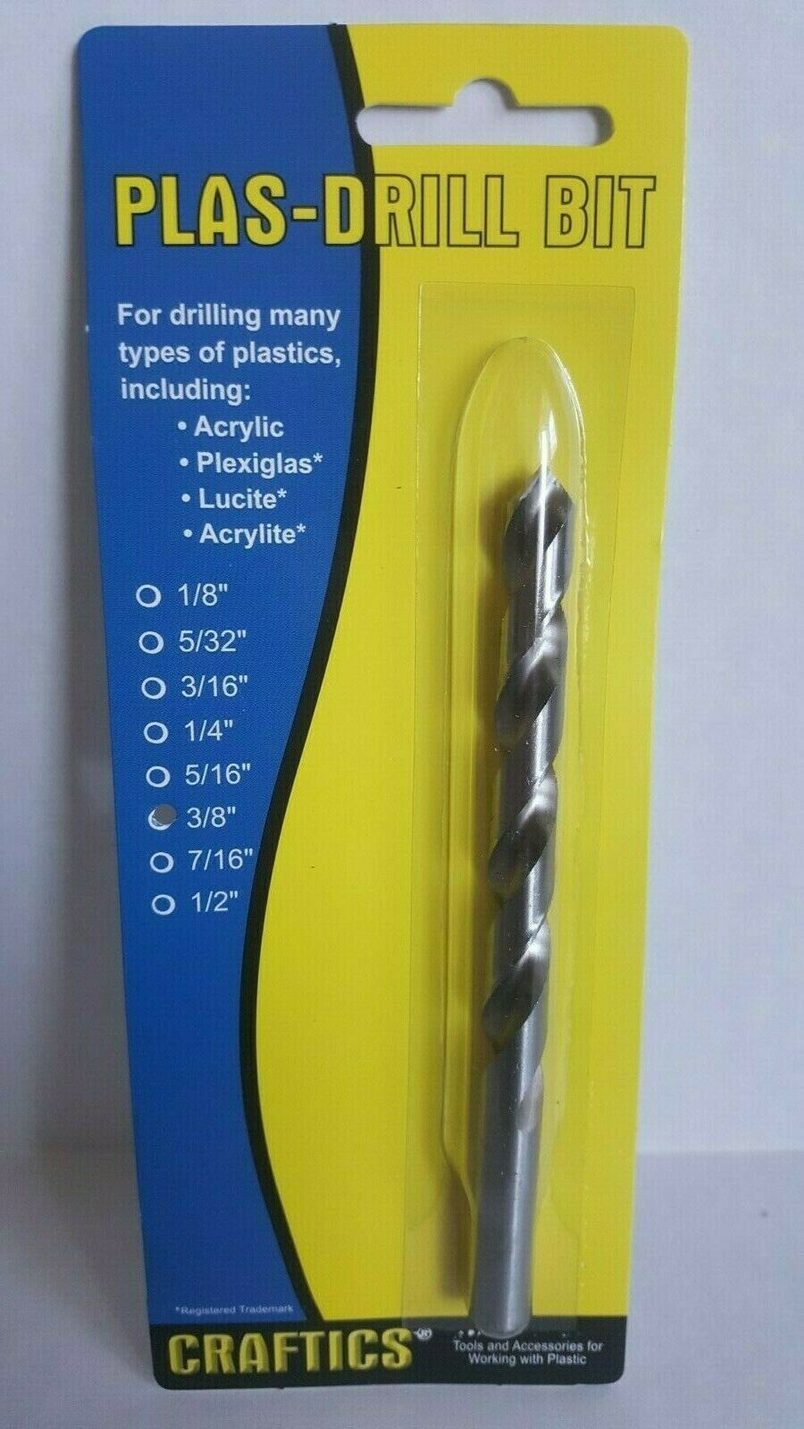 Acrylics, Plexiglas, Lexan, ABS, PVC, and more 5//32 Drill Bit for Plastic Works with Hand Drill