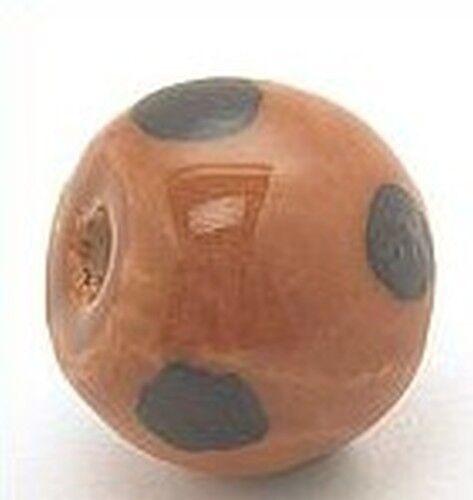1 Keramikperle Kikubwa ca 18mm camel dark