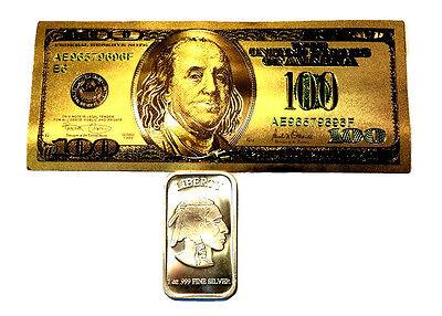 1 Troy Ounce 999 Fine Silver Buffalo Bar Bu 1 99 9 24k