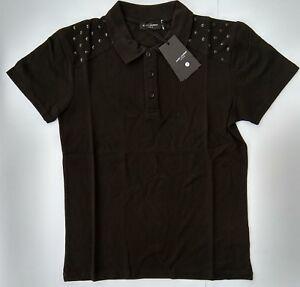5e019b2b56d Details about New YVES SAINT LAURENT Men's Polo T-Shirt YSL Paris Size L  France Black Cotton