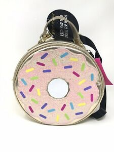 Betsey Johnson Luv Gold Pink Sprinkles Donut Insulated
