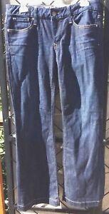 Gap-1969-Jeans-Perfect-Boot-Women-s-Blue-Denim-Cotton-Stretch-Dark-Size-6