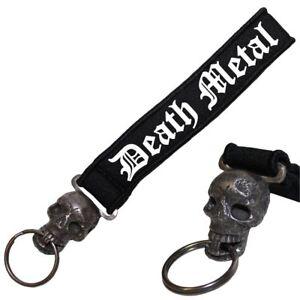EntrüCkung Schädel Neopren Schlüsselanhänger Death Metal Extrem Hell Blood Blut Core Thrash Eine Lange Historische Stellung Haben