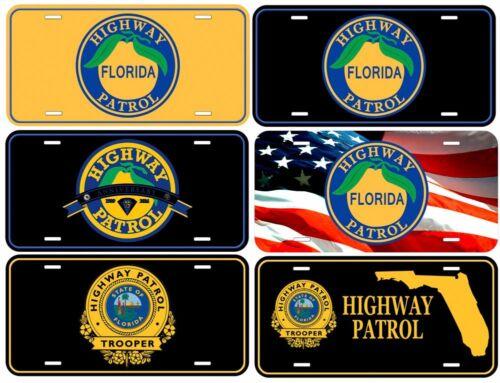 Highway Patrol Florida Aluminum Novelty Collectible Car Plate 6x12