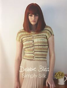 Debbie-Bliss-Simply-Silk-Pattern-Book-For-Luxury-Silk-DK-Brand-New
