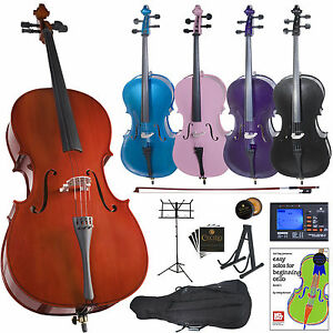 Cecilio-Cello-Outfit-Black-Blue-Pink-Purple-Size-4-4-3-4-1-2-1-4-1-8-Sheet-Stand