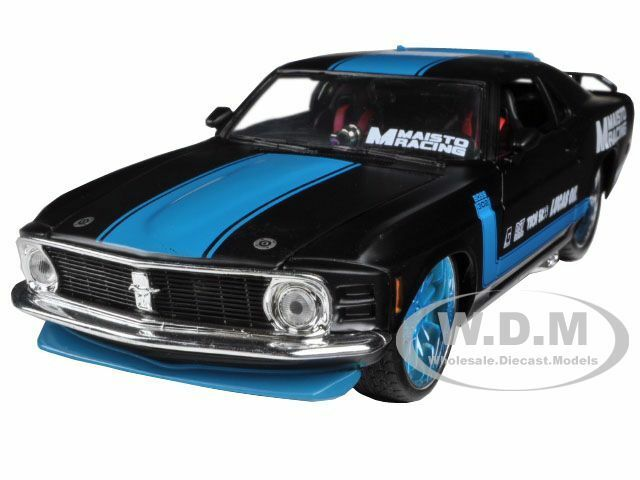 "1970 FORD MUSTANG BOSS 302 BLACK/BLUE 1/24 ""ALL STARS"" CAR MAISTO 31329"
