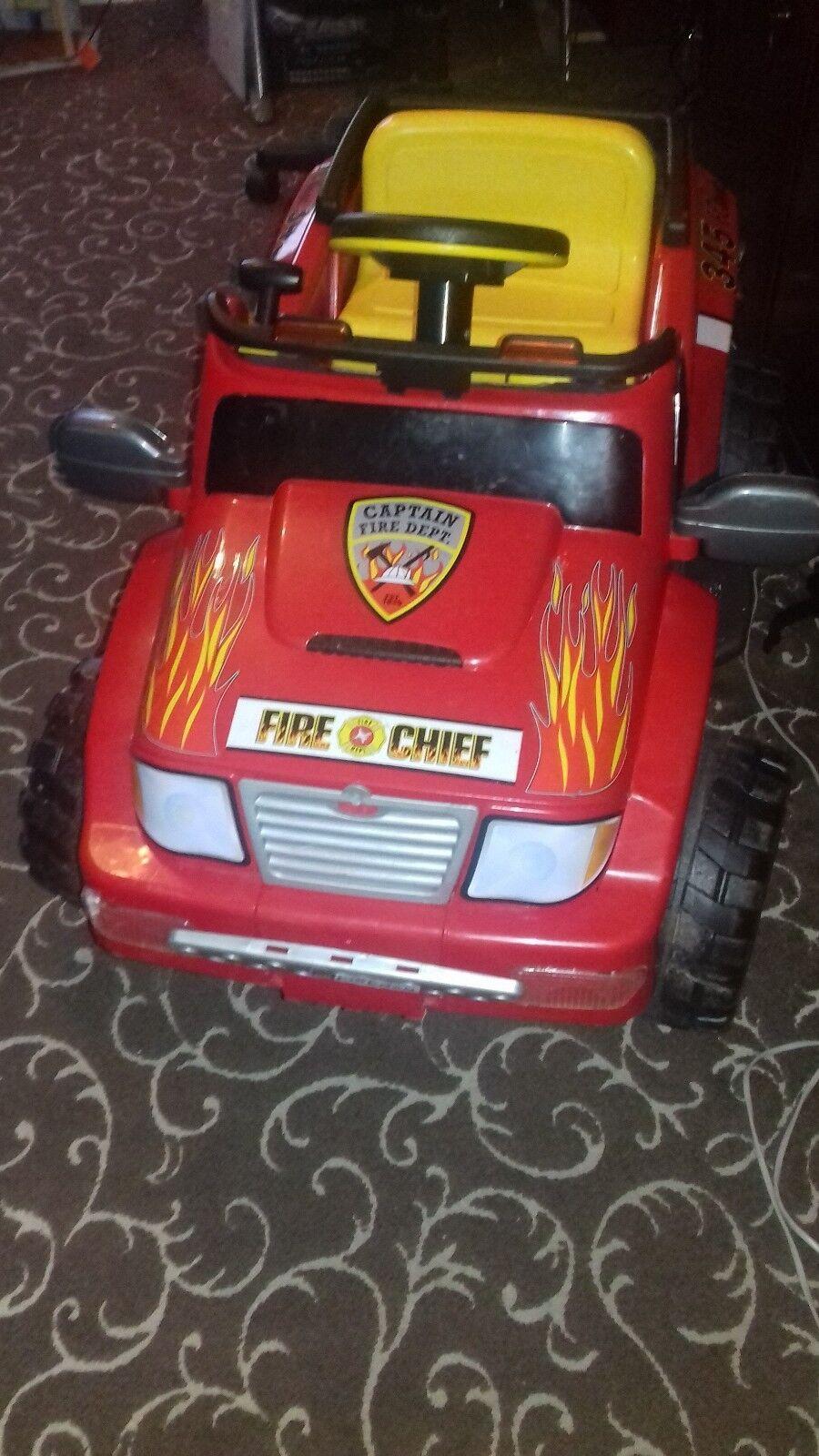 Huvudsaklig laddningsbar elektrisk brand CHEF CAR i gott skick