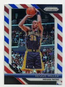 2018-19-Panini-Prizm-REGGIE-MILLER-RED-WHITE-BLUE-REFRACTOR-55-Indiana-Pacers