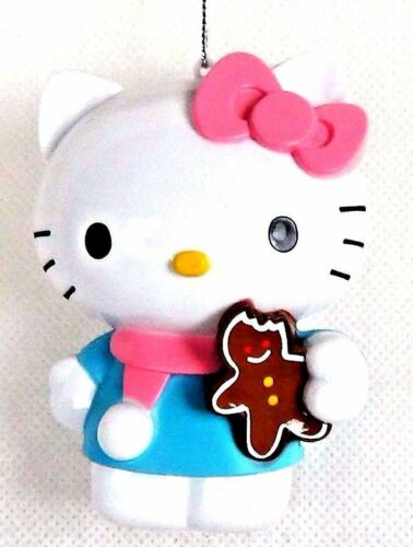 NEW! Sanrio Hello Kitty Cat Gingerbread Man Bow Christmas Tree Ornament Holiday