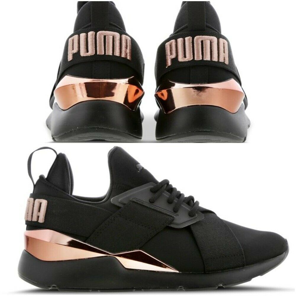 Puma Muse 2 Satin Strap  Black-Metallic  Women's Trainers All Size Limited Stock