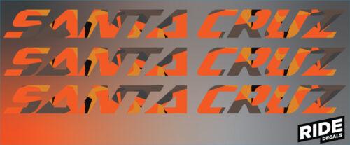Santa Cruz Style Autocollant Decal Sets-Bronson Nomad 5010 Hightower-Fire Camo