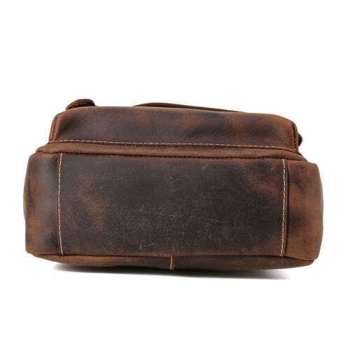 Vintage Men/'s Genuine Leather Sling Messenger Shoulder Bag Crossbody Satchel