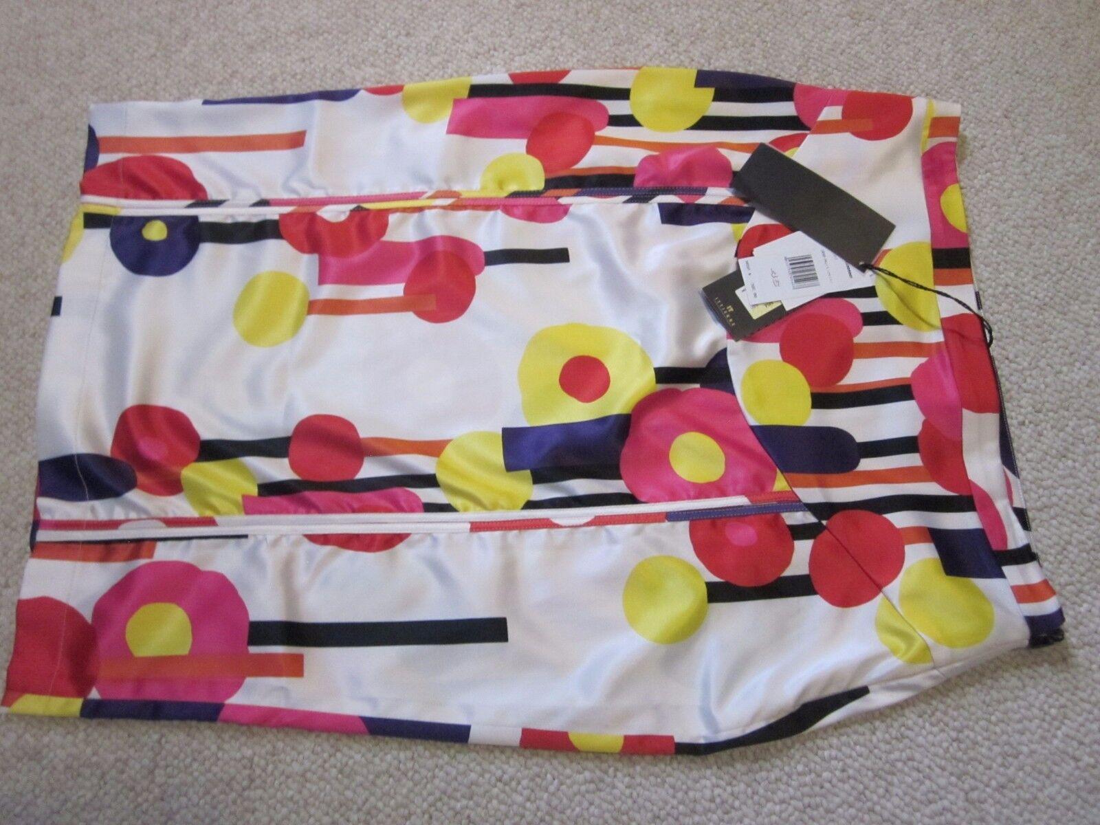 NWT Just Cavalli Multi color Print Skirt Size 46