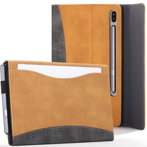 Samsung-Galaxy-Tab-S6-10-5-Case-Cover-Stand-with-Document-Pocket-Tan