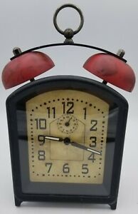 Pottery Barn Small Alarm Reflecting Arms Clock Ebay
