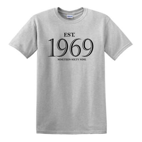 EST Established 1969 T Shirt//50th BIRTHDAY 2019 Funny//Present//Father Day//Gift