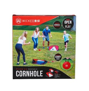 Travel Portable Cornhole Game Set for Kids Col Beach Corn Hole Tailgate Game