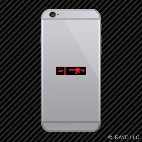 Ar15 Element Periodic Table Red Cell Phone Sticker Mobile Ar 15 2a