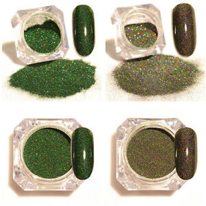 2Boxes-Nail-Glitter-Powder-Holographic-Green-Pigment-Dust-Nail-Art-Decoration