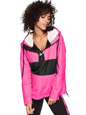 Victoria/'s Secret Pink Anorak Windbreaker Jacket Full Zip XS//Small Baby Pink NWT