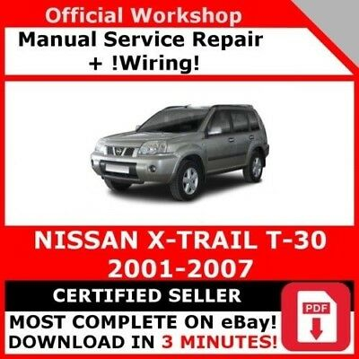 Factory Workshop Service Repair Manual For Nissan X Trail 2001 2007 Wiring Ebay