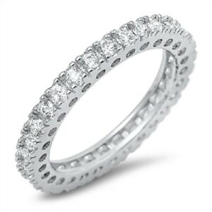 STERLING-SILVER-Simulated-Diamond-Wedding-Eternity-Ring-Size-9-10-11-12-R-T-V-X