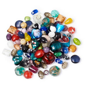 Handmade-Lampwork-Glass-Beads-Mixed-Color-11-29x11-25x11-15mm-about-500g-bag