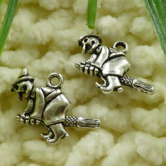 Free Ship 60 pieces tibetan silver witch charms 20x13mm #1190