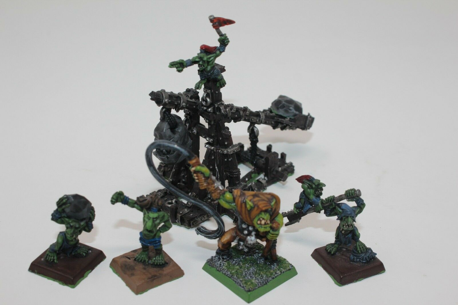 Warhammer orcos y goblins Rock Desrame Metal bien pintados-JYS62