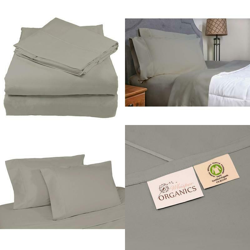 Bed Sheets Organic 100% Cotton Sheet Set 500 Thread Count 4 Piece Fitted