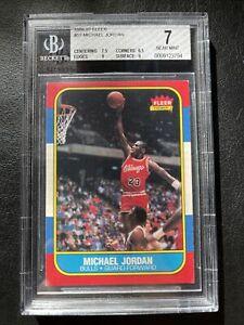 1986 Fleer Basketball Michael Jordan ROOKIE RC #57 BGS 7